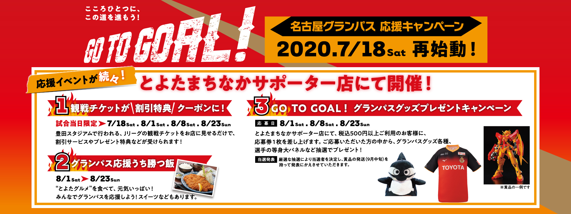 GO TO GOAL! 応援キャペーン